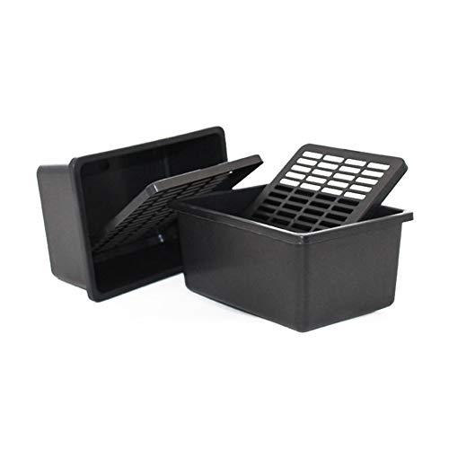 OMEM Reptile Box Small Pet Transport Ventilation Grille Box Plastic Black Breeding Hatching Box Spider Turtle Frog Hamster Small Animals Supplies