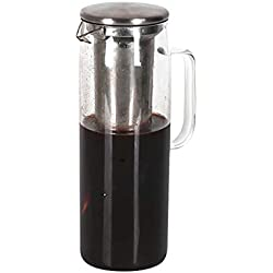 1500ml Cold Brew Iced Coffee Maker Pot Glass Cold Brew Maker Pitcher Glass Tea Tumbler Bottle Brewer Carafe