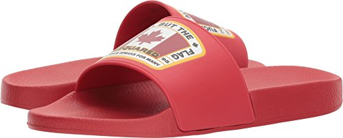 DSQUARED2 Mens Flag Slide Red vXfLGog