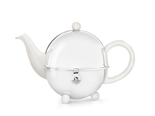 bredemeijer Cosy Teapot, 0.5-Liter, Ceramic Spring White with Insulated Shell