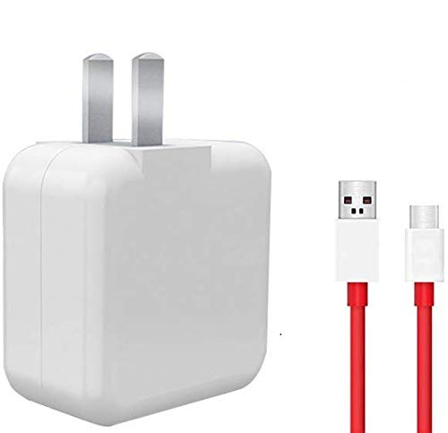 Oneplus 5 5T 6T 7 Cable and Charger, Dash Type C USB Data Cable and Dash USB Power Charger AC Wall Adapter for One Plus 7 6T 3T 3 A5000