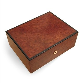 Grand Root and Ebony Wood 60-Cigar Humidor by Jemar by Jemar