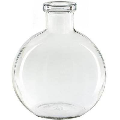 CLEAR 8.5 Ounce Ball Glass Vase - Courtneys (Courtney Glasses)