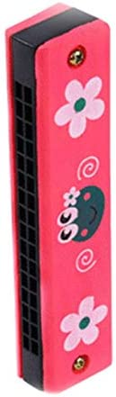 Majoxin 16 Double Row Wooden Cartoon Harmonica