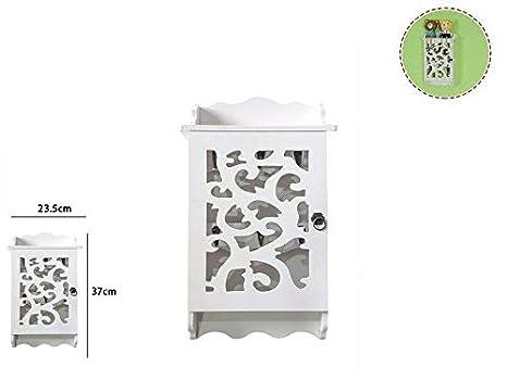 takestop® - Caja para Llaves de Madera Blanca RF_65379 1 con ...