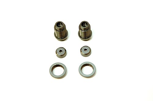 ST Racing Concepts ST3764XGM CNC Aluminum Threaded Shock Bodies with Collars (Pair), for Traxxas 4Tec 2.0, Gunmetal