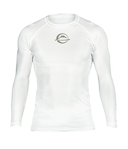 Fuji Baseline Ranked Jiu Jitsu Rashguard,White,Medium