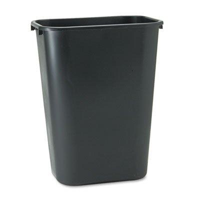 Rubbermaid Commercial 295700BK Deskside Plastic Wastebasket, Rectangular, 10 1/4 gal, Black