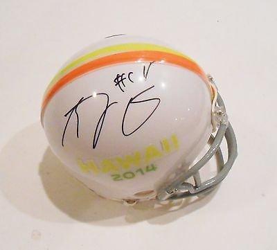 (A.J. Green Signed 2014 Pro Bowl Cincinnati Bengals Mini Helmet w/COA)