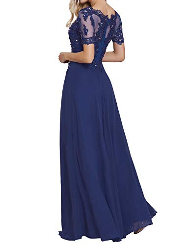Formal Dress The Mother Bride of Champagne Evening Appliques Dresses Chiffon Beaded xq8RA58znB