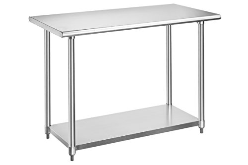 - Rockpoint Beacon Stainless Steel Table NSF Certified, 48-Inch