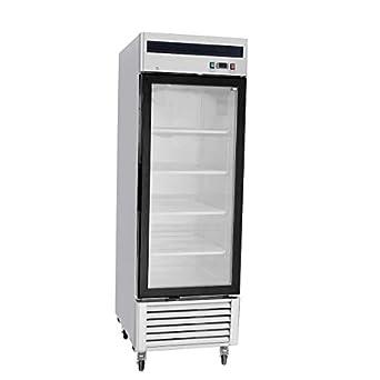 Charmant 27u0026quot; Freezer Single Glass Door Stainless Steel Reach In Commercial  Grade Restaurant   21