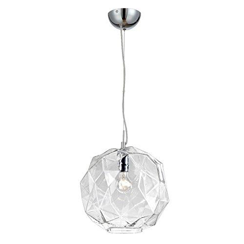 - Eurofase 26249-018 Studio 1-Light Pendant, Clear/Chrome