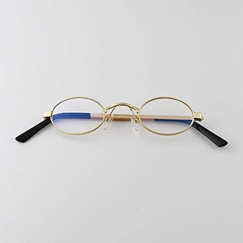 De De Gafas transparent Ultra Planas Hombre Mujer Blanco Gafas De FKSW Gafas film De frame Reflector Plateado De Estrecha Sol Plateado Calle Sol Onda Sol Gold Y5dxSwq