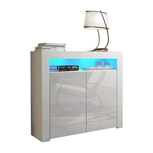 High Gloss Sideboard With Led Lights in US - 6