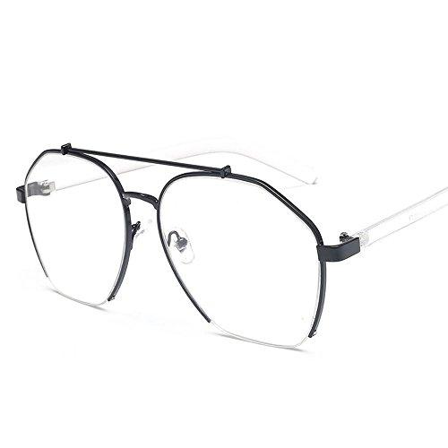 élégant nouveau personnalisé des lunettes de soleil mesdames les lunettes de soleil les lunettes de marée star hommes visage rond korean les yeuxboîte noire (sac) grey film cVD4Uk
