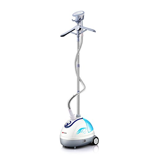 Ainfox Garment Steamer, 1500 ml Household Use Wrinkle Remover Clothes Fabric Garment Steamer Portable with Stand Blue by Kazoo