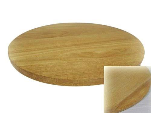 Tabla redonda de pizza circular de madera para cortar pizza de madera maciza – 35 cm – 14 pulgadas Wooden World