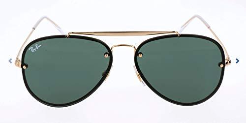 Ray-Ban RB3584N Blaze Aviator Sunglasses, Gold/Green, 58 ()