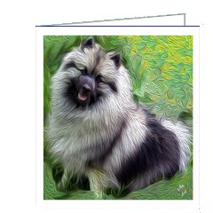 (Keeshond Note Cards- Set of 6 with Envelopes by Doggylips)