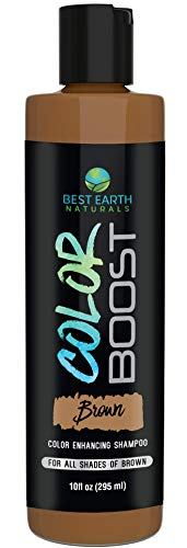 Color Boost Brown Color Depositing Shampoo for All Shades of Brown Hair to Glaze and Add Color or Cover Gray Hair for Men and Women 10 Ounces... (Best Hair Dye For Dark Hair To Cover Grey)