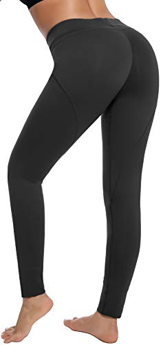 RUNNING GIRL Butt Lifting Leggings,Scrunch Butt Shaperwear Compression Leggings Workout Yoga Pants for Women (L,1068 Black)