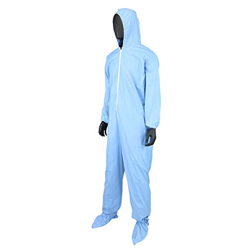 West Chester 3109/XL Posi FR Coverall Hood, Boot, Elastic Wrist & Ankle, XL, Blue (Box of 25) by West Chester (Image #3)