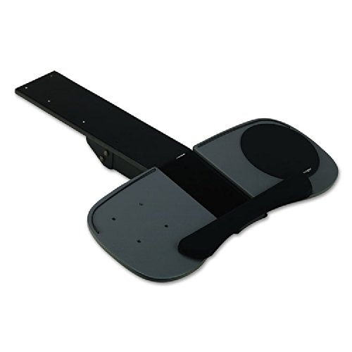 Expandable Articulating Keyboard Platform - keyboard platform with wrist pillow