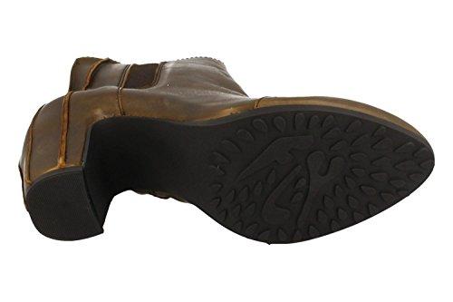 FLY London Alar140fly, Zapatos de Tacón con Punta Cerrada para Mujer Marrón (Olive)