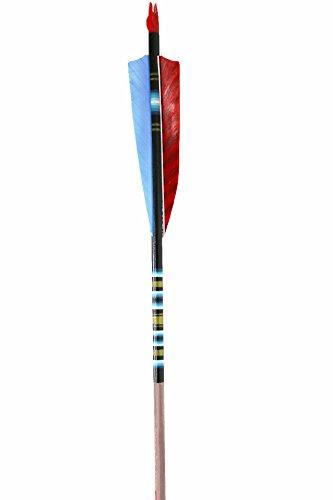 Rose City Archery Port Orford Cedar Fancy Arrows, Black Crown with Walnut Stain Shaft, 3