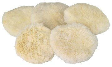 """Chicago Electric Power Tools 5 Piece 7"""" Wool Polisher Bonnet"""