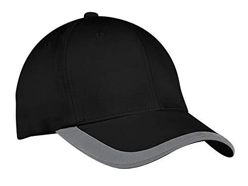 TOP HEADWEAR Contrast Stripe Sandwich Bill Cap - Black/Graphite