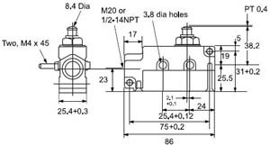SUNS International SN91-Q11 Plunger Enclosed Limit Switch