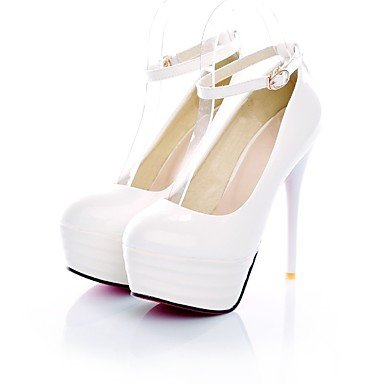 Damen 10 Rot Normal High 12 Schwarz Weiß white Komfort Heels LvYuan Frühling Komfort ggx cm Stöckelabsatz PU T5wqx0O7