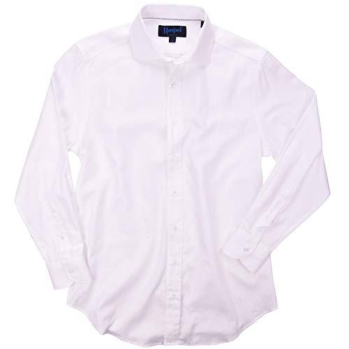 (Haspel Long Sleeve Shirt - Carroll White Oxford)