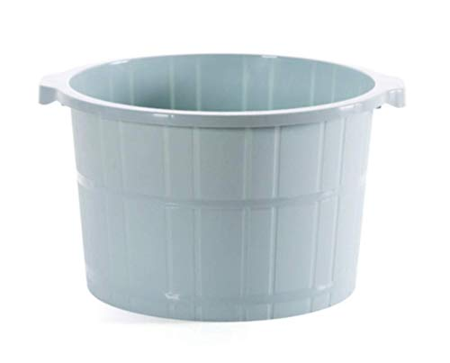 Price comparison product image Zatikki Foot Spa Bath Massage Bucket - Premium Thick PP Plastic Large Foot Massager Basin Tub,  Extra Tall & Sturdy (Blue)