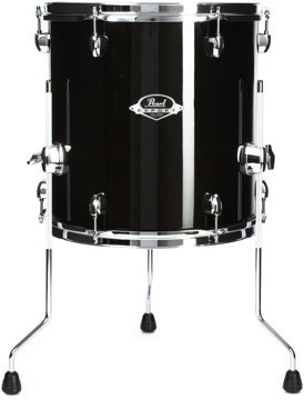 Pearl Export EXL Floor Tom - 14 Inches X 14 Inches Black Smoke
