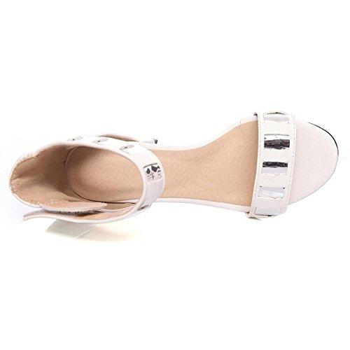 Coolcept Sandalias de Tacon Ancho Para Mujer PU White
