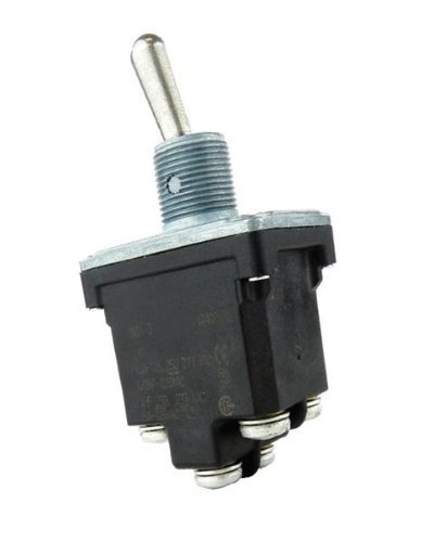 2NT1-3D, Micro Switch Toggle Switches: NT Series, Double Pole Double Throw (DPDT), 2 Position (On - On), Screw Terminal, Locking Lever by Honeywell