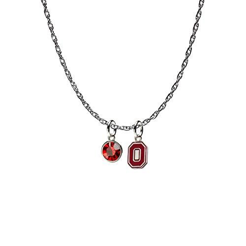 Ohio State Necklace- Block O | Ohio State University Necklace | Ohio State Buckeyes Jewelry ()