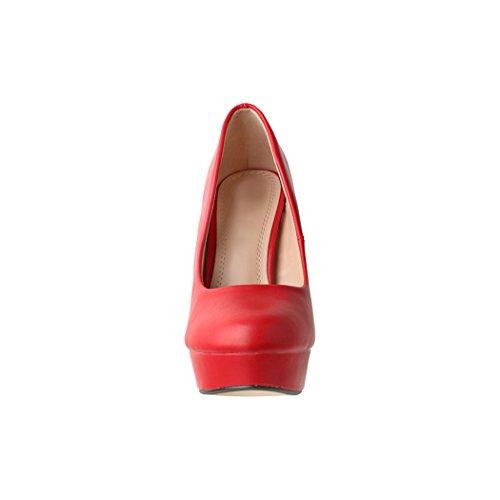 Rouge Coupe Elara Elara Coupe Fermées Femme HafBYqwq
