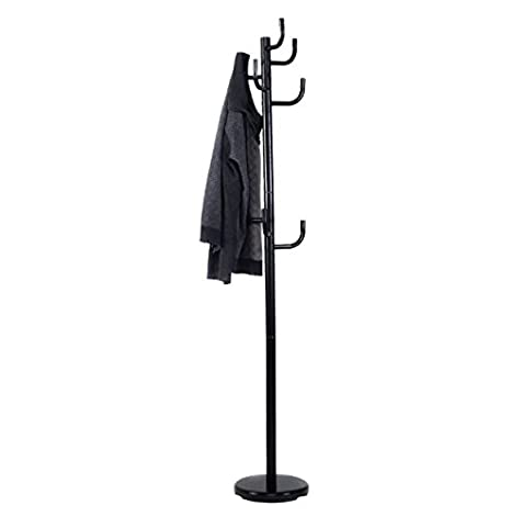 Metal Coat Rack Hanger With Round Base Hat Tree Stand Hall Hook Holder  Black Umbrella Hooks