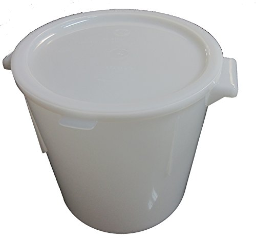 Large 6 Quart Plastic Dough Rising Bucket with Lid