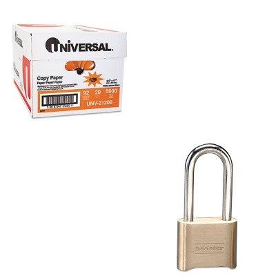 KITMLK175LHUNV21200 - Value Kit - Master Lock Resettable Combination Padlock (MLK175LH) and Universal Copy Paper (UNV21200)