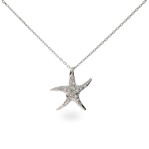 Sterling Silver CZ Starfish - Clearance Tiffany Items