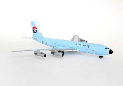Lucia 1 Light (AVIATION200 1-200 Scale Model Aircraft AV27070611B St. Lucia Airways B707-300 J6-SLF Light Blue 1-200 Scale by Aviation 200)