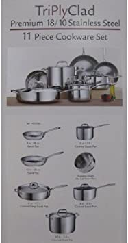 Tramontina Premium Quality 18 10 Stainless Steel 11 Piece Tri Ply Clad Cookware Set