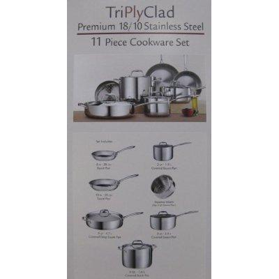 Tramontina Premium Quality 18/10 Stainless Steel 11 Piece Tri Ply ...
