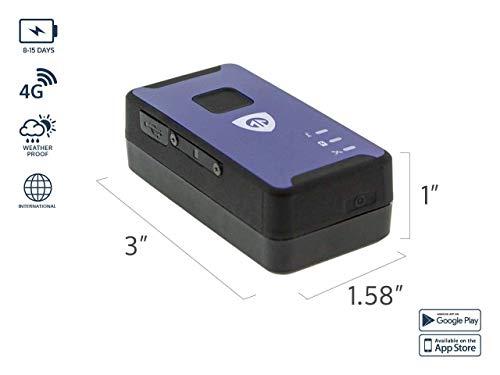 Spark Nano 7 4G Micro GPS Tracker - Smallest Personal GPS Tracker - 4G Micro Car Tracker with GPS Tracking Coverage Across North ()