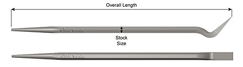 Ajax Tools 686 Goose Neck Fit Up Pry Bar, 48 in Overall Length, 7/8 in Hex Stock Size